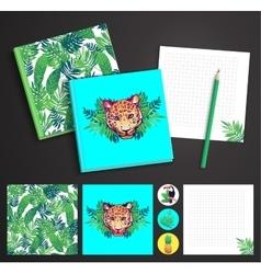 Tropical printable set vector image vector image