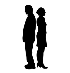 Unhappy couple with relationship problems vector
