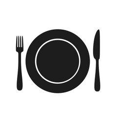 utensil black silhouette vector image