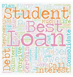 Why consolidate student loans text background vector