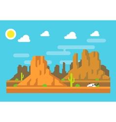 Wild west Arizona mountain flat design vector image