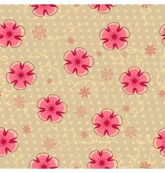 Romantic vintage seamless floral pattern vector image