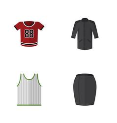 flat dress set of uniform t-shirt stylish vector image