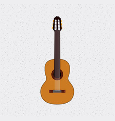 Guitar instrument musical isolated icon vector