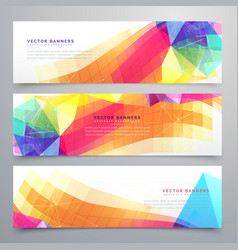 Abstract funky banners set of three vector