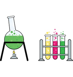 Science equipment vector