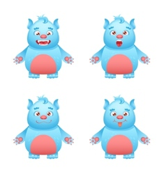 Monster character set vector
