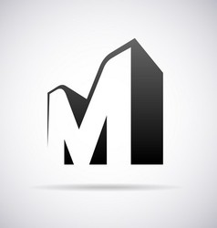 Logo for letter M vector image