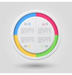 Circle infographic vector