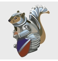 Beaver warrior in knights armor cartoon animal vector