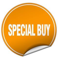 Special buy round orange sticker isolated on white vector