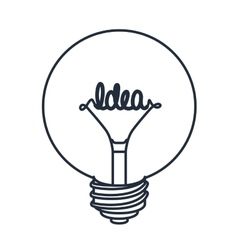 Bulb drawing isolated icon design vector