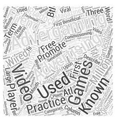 Advertising through advergaming word cloud concept vector