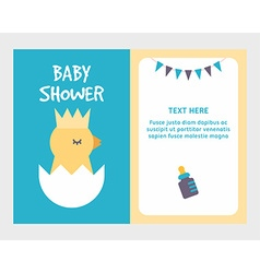 Baby shower invitation card template with cute vector