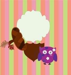 background children owl and acorn vector image