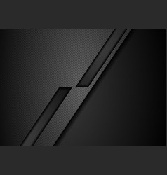 Black tech geometric corporate background vector