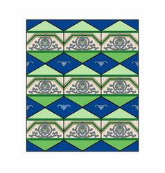 blue and green patterns vector image vector image