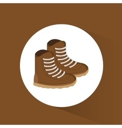 brown boots winter wear shoes vector image
