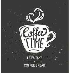 Coffee time hipster vintage stylized coffee paper vector