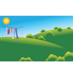 drying clothes vector image vector image