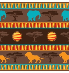 Ethnic african abstract geometric seamless fabric vector image vector image