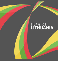 flag of lithuania against a dark background vector image vector image