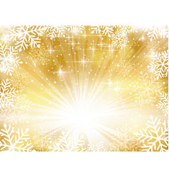 golden sparkling christmas background with vector image