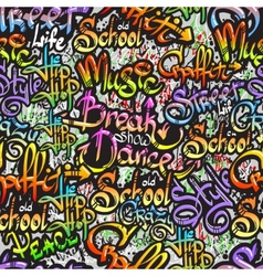Graffiti word seamless pattern vector
