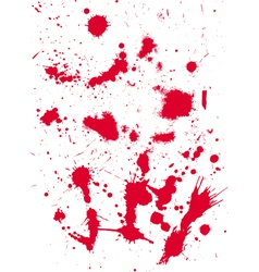 grunge texture from blood splats vector image vector image
