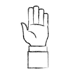 Hand number symbol vector