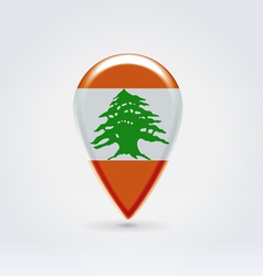 Lebanon icon point for map vector image vector image