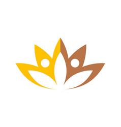 lotus flower beauty spa logo vector image