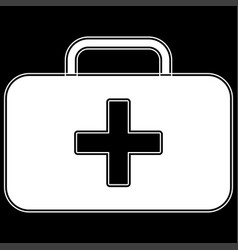 Medical case the white color icon vector