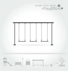 Playground icon isolate set vector