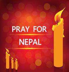 Pray nepal vector