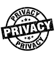 Privacy round grunge black stamp vector