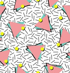 Retro 80s style seamless pattern background vector image vector image