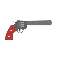 revolver gun pistol vintage handgun weapon white vector image vector image