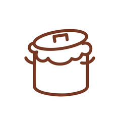 Saucepan and dough line sign symbol for bakery vector