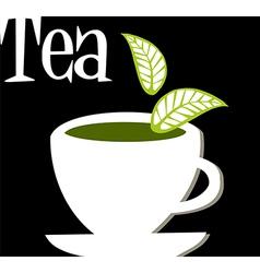 Tea label vector