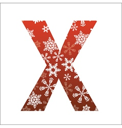 X Letter vector image vector image
