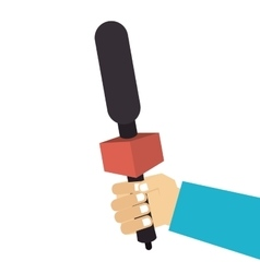Microphone news journalist hand vector