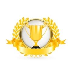 Golden Emblem vector image