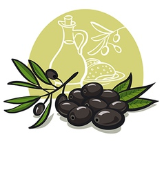 black olives vector image