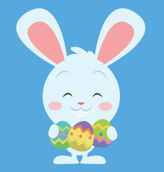 Easter bunny smiling character vector