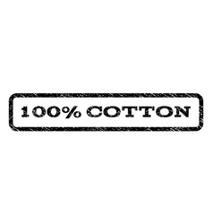 100 percent cotton watermark stamp vector