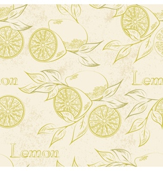 Lemon seamless vector