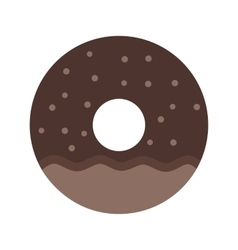 Doughnut sprinkled vector