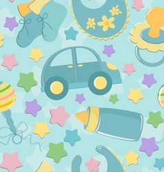Infant seamless background vector