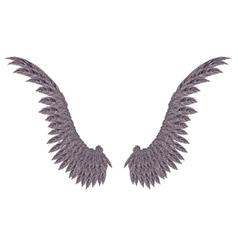 Dark Wings vector image